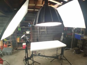 Aputure lights for tabletop setup